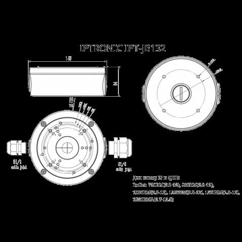Монтажная коробка  IPTRONIC IPT-JB132