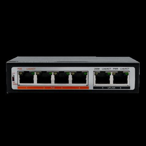 Коммутатор PoE IPTRONIC PS1-E6P4