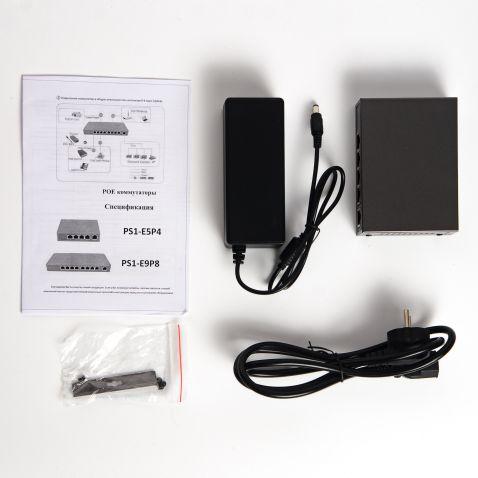 Коммутатор PoE IPTRONIC PS1-E5P4